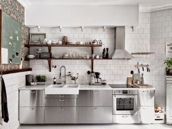 Moderne Küche aus Edelstahl   Küche   Ikea küche ...