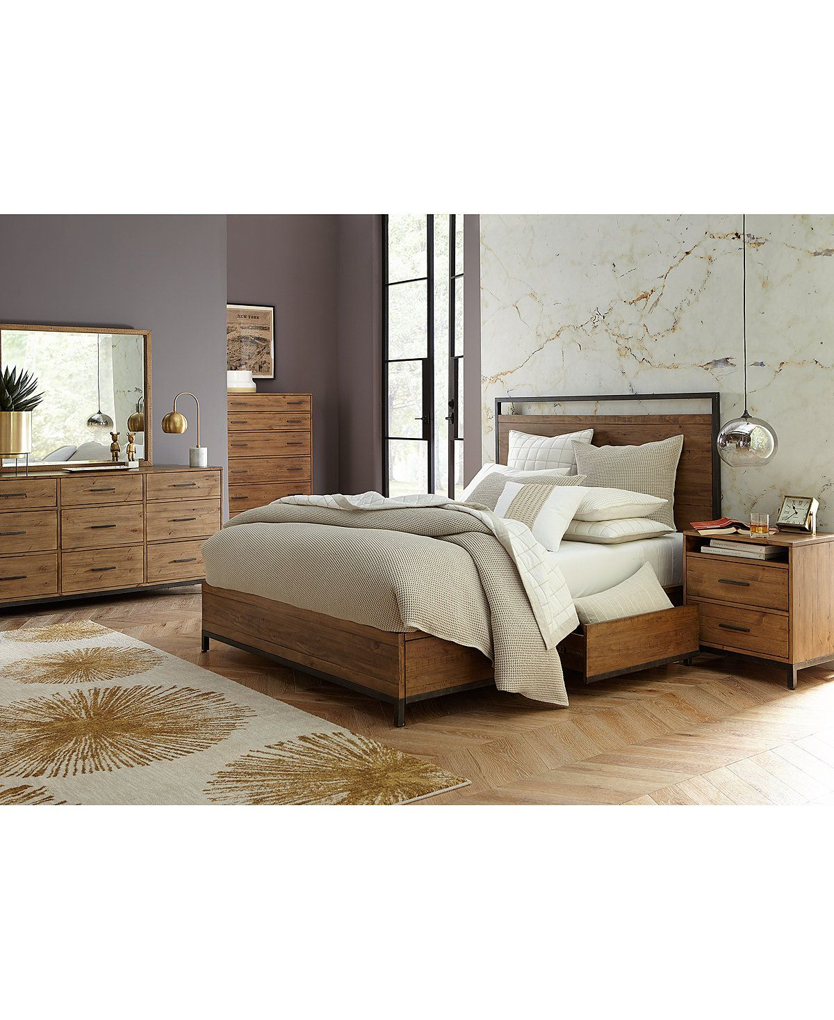 Furniture Gatlin Storage King Platform Bed Created For Macy S