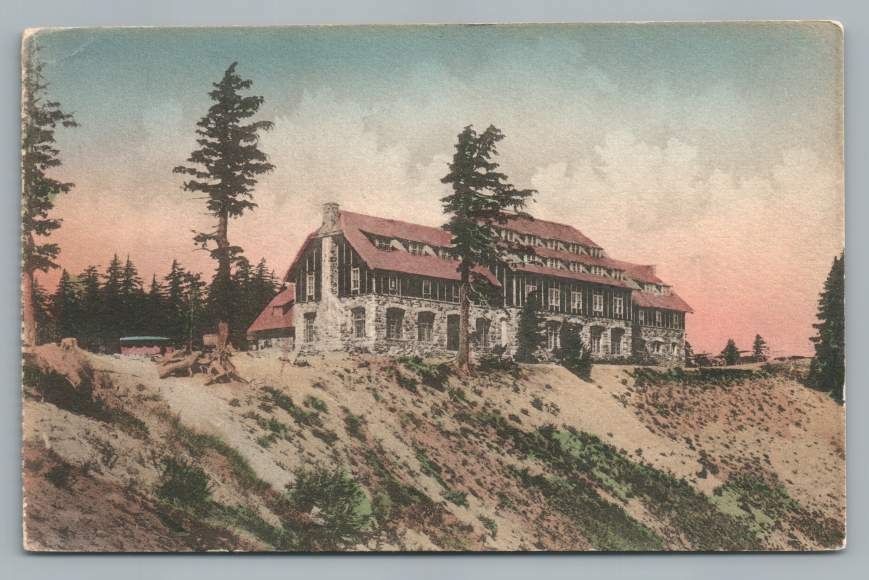 Crater Lake Lodge~Antique Oregon Hand Colored Postcard Albertype~1920s | eBay