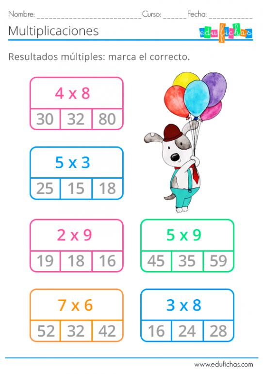 Fichas De Multiplicaciones Cuadernos Para Niños Multiplos Y Divisores Material Didactico Para Matematicas Enseñar La Multiplicación