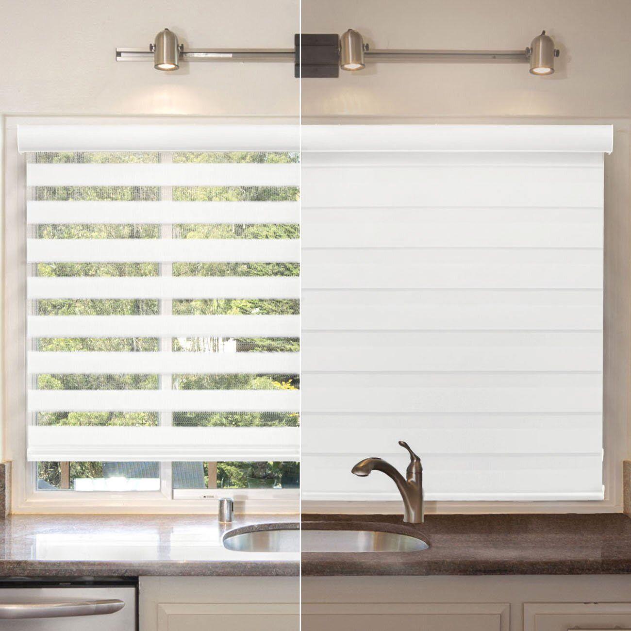 Biltek cordless zebra roller blinds sheer shades free