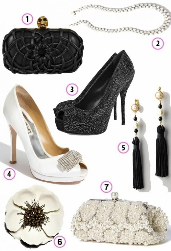 Look of the Week: Women's Black and White Accessories for SF Symphony's Black and White Ball