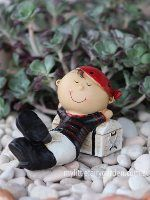 Pirate with Chest Miniature Fairy Garden