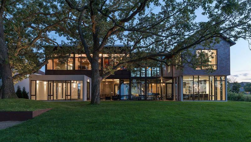 Altus architecture design have designed an industrial modern house for  large family that sits on the shore of lake waconia in minnesota also by exterior rh pinterest