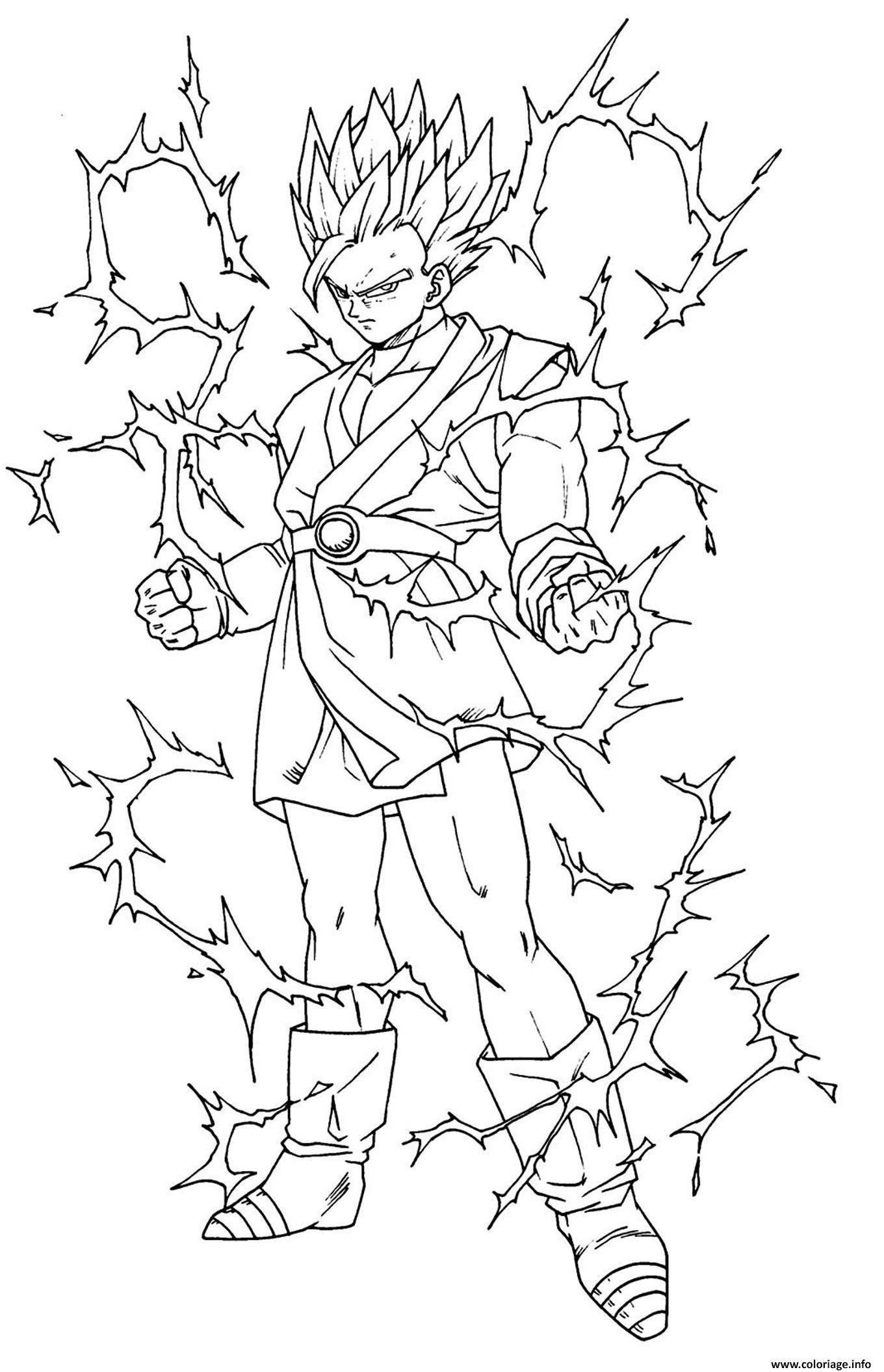 12 Propre Coloriage Dragon Ball Z Sangoku Pics