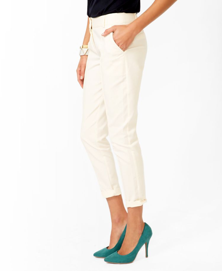 $24.80 - Essential Pintucked Ankle Trousers | FOREVER21 - 2025100628