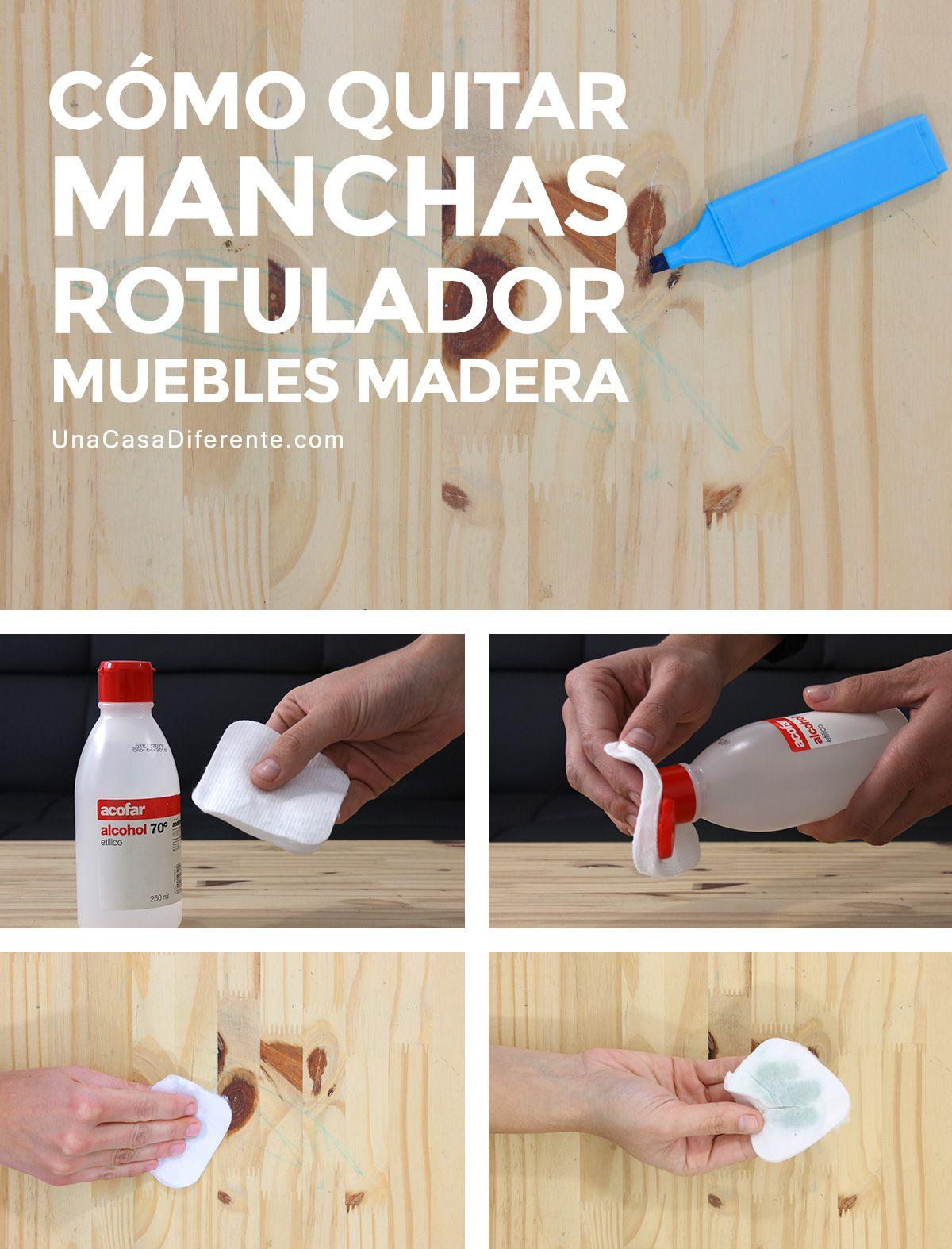 Cómo Quitar Manchas De Rotulador Muebles De Madera Salud Healt