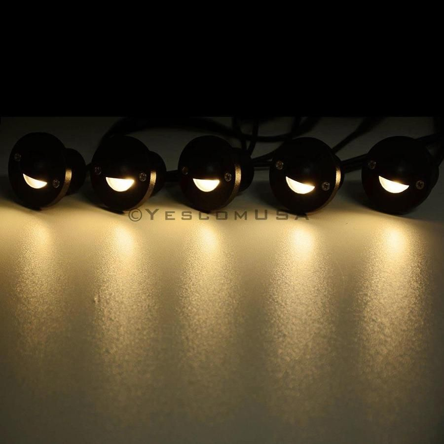 Yescom Recessed Led Deck Light 10pack Step Patio Warm White Led Deck Lighting Deck Lights Deck Lighting
