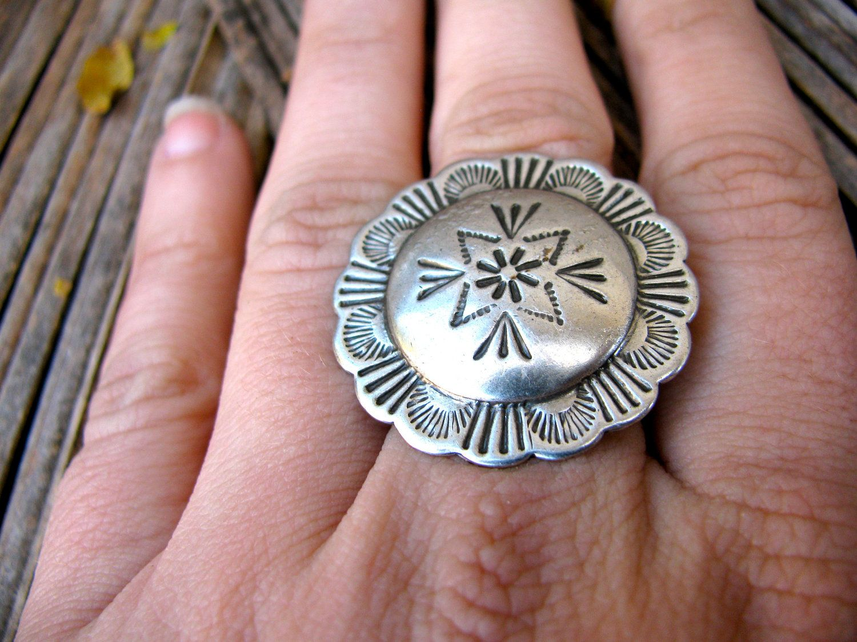 Silver Tribal Ring Bohemian Native American Ring Ethnic Hippie Ring ...