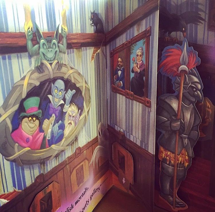 The Haunted Mansion popup book, 1994. Illustrations by