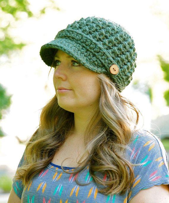 Crochet Hat Pattern Womens Hat Pattern Newsboy Hat Pattern Fall