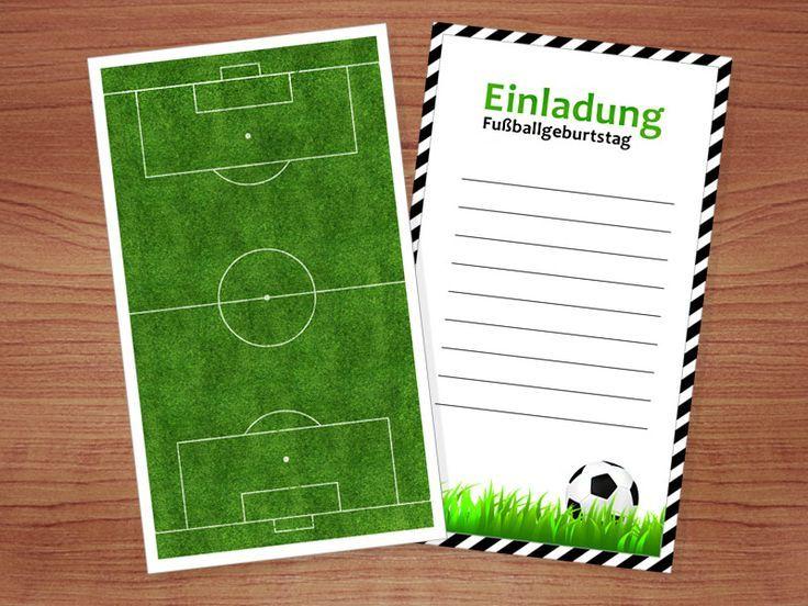 Fussball Einladung Kostenlose Vorlagen Zum Ausdrucken Fussball Einladungen Geburtstagseinladungen Kostenlos Kindergeburtstag Fussball