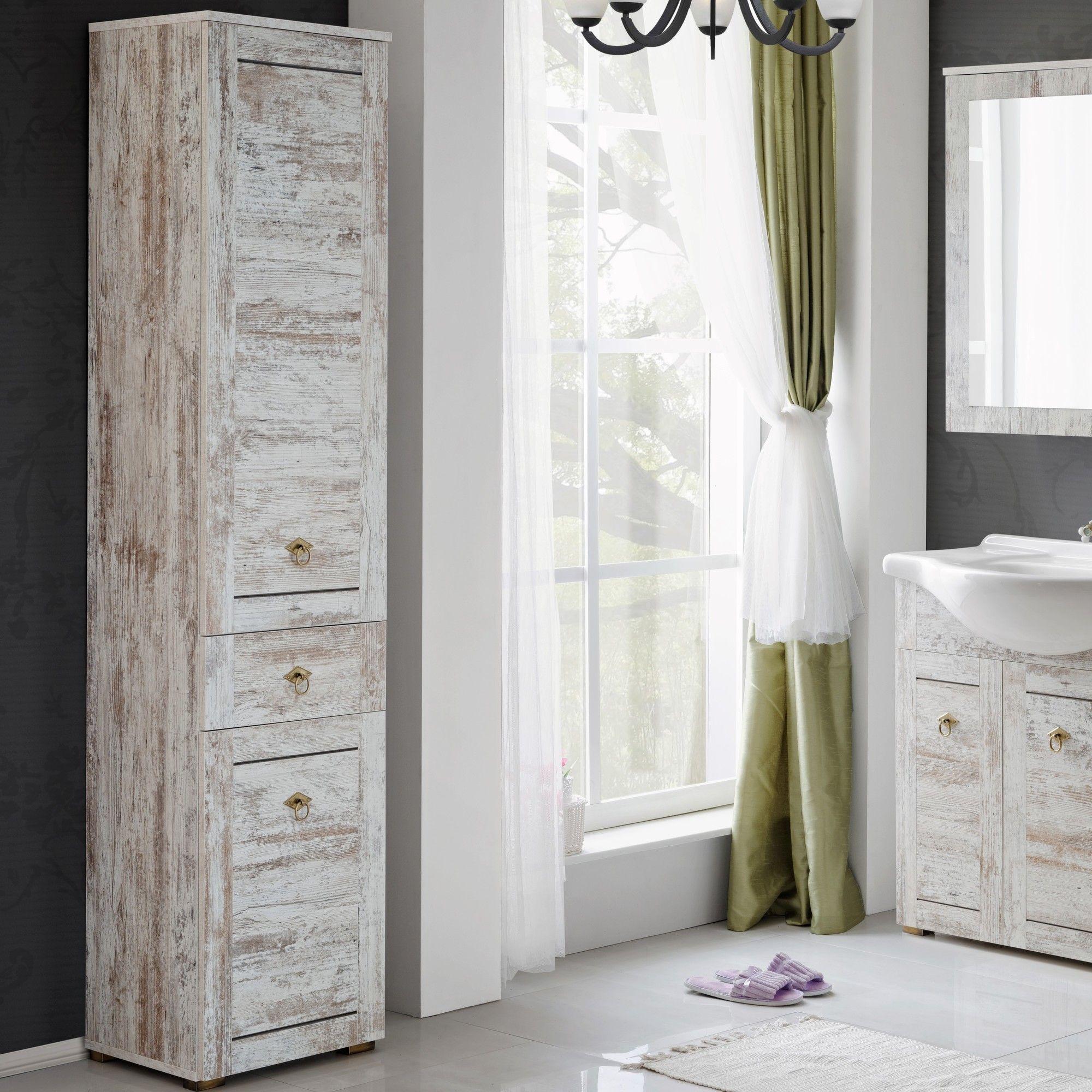 Fennel 40 x 185 cm Free Standing Tall Bathroom Cabinet | Wayfair UK ...