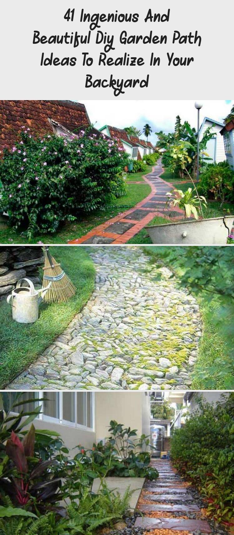 Photo of 41 Ingenious And Beautiful Diy Garden Path Ideas To Realize In Your Backyard – Pinokyo