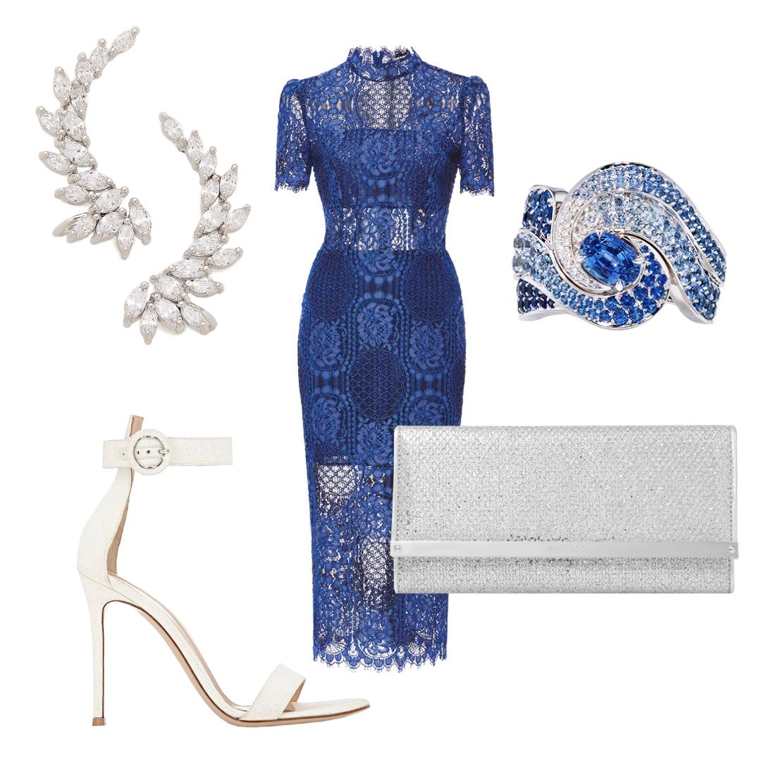 Match this passionateblue hued dress with a pair of minimalist