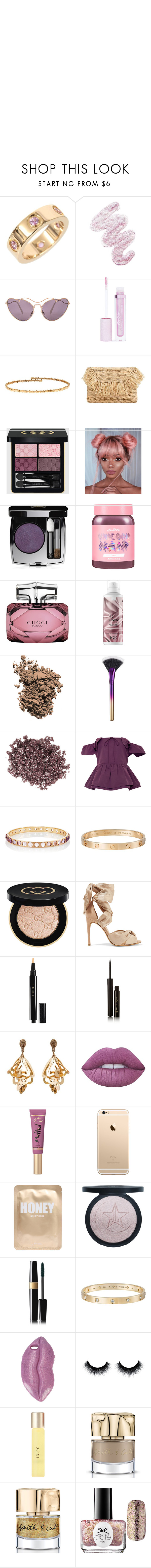 """""""Gilded butterfly"""" by mylano ❤ liked on Polyvore featuring Cartier, Lime Crime, Miu Miu, Suzanne Kalan, MANGO, Gucci, Chanel, Dolce&Gabbana, tarte and Coldwater Creek"""