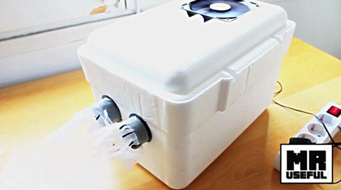 canicule il se fabrique un vrai climatiseur pour moins de 50 euros vid o climatiseurs. Black Bedroom Furniture Sets. Home Design Ideas