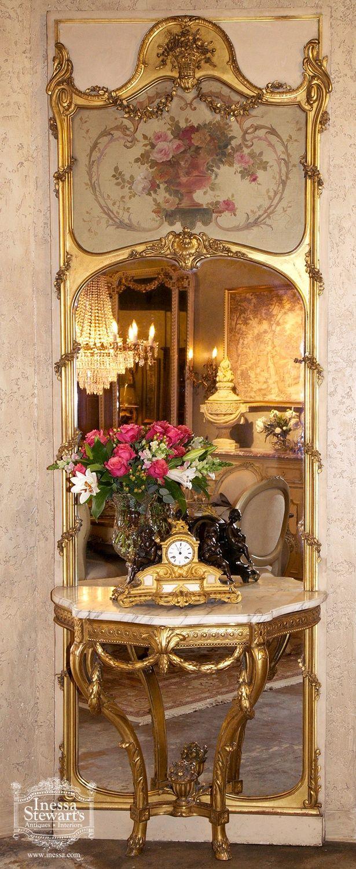 Esszimmer ideen mit spiegeln rosamaria g frangini  architecture french decor  antiquitäten