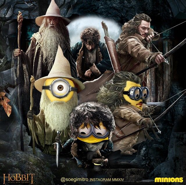 Hobbit Minions Gandalf Bilbo Bard The Bowman Minion Pictures Minions Funny Minions