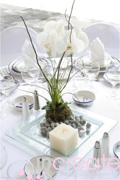 centros de mesa con piedras
