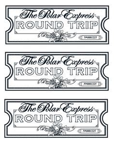 Golden Ticket Polar Express Coloring Pages