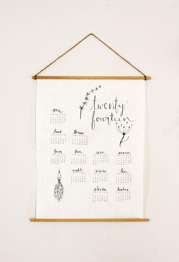 Diy Linen Wall Calendar  Linens Homemade And Holidays