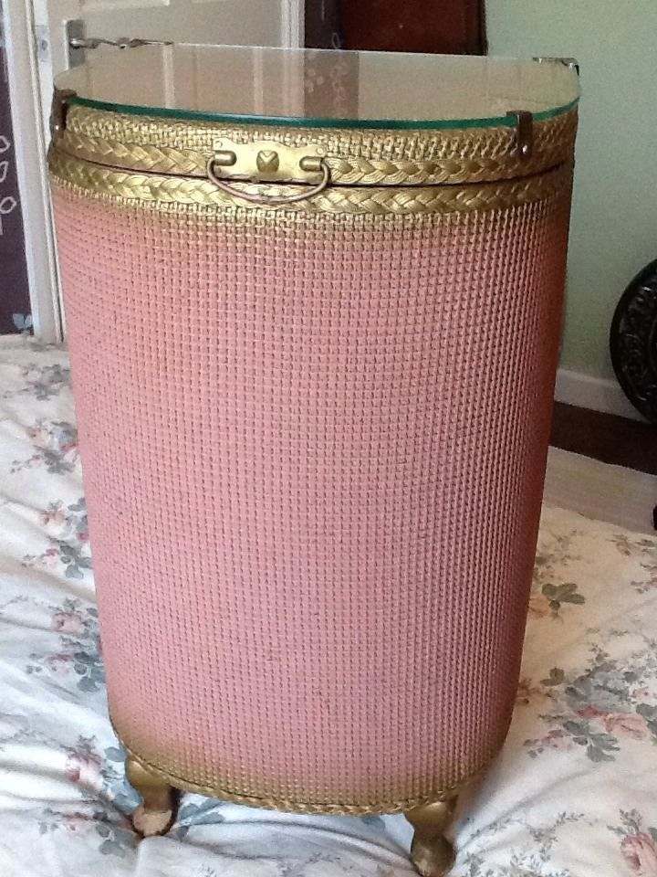 Daily Limit Exceeded Lloyd Loom Linen Baskets Pink And Gold