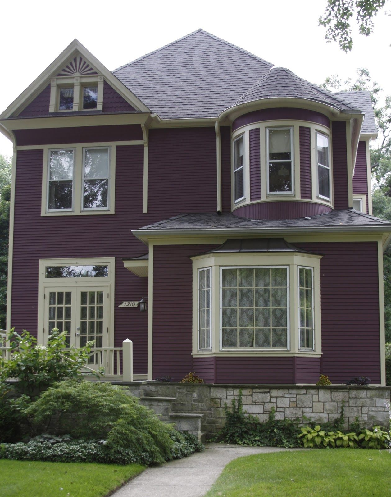 Stylish Purple Exterior Exterior Exteriordesign Exteriordesigncolor Purple Homedesign House Paint Exterior Beautiful Houses Exterior Outside House Paint
