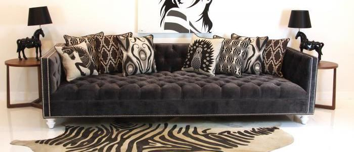Tufted Deep Sofa In Charcoal Velvet 9ft Long X 42 16 Seat