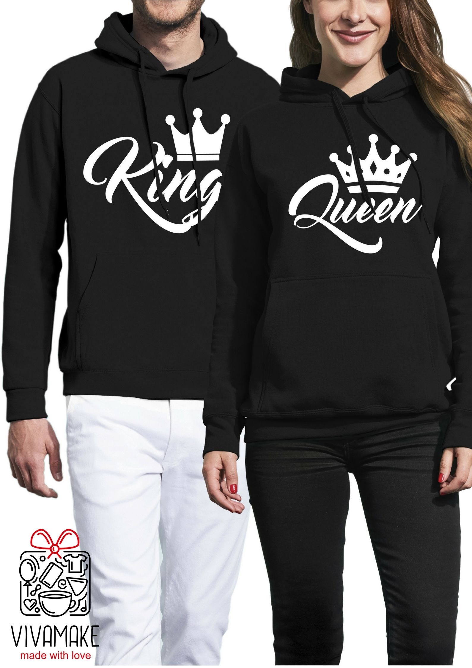 85a81c9a king and queen hoodies / king and queen sweatshirts / king queen hoodies / king  queen shirts / king and queen sweatshirts / couple hoodies