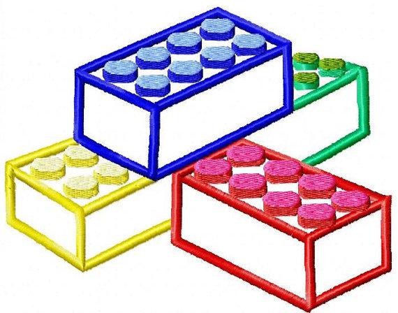 Machine Embroidery Design -Lego Blocks Applique - Instant Download-3 ...