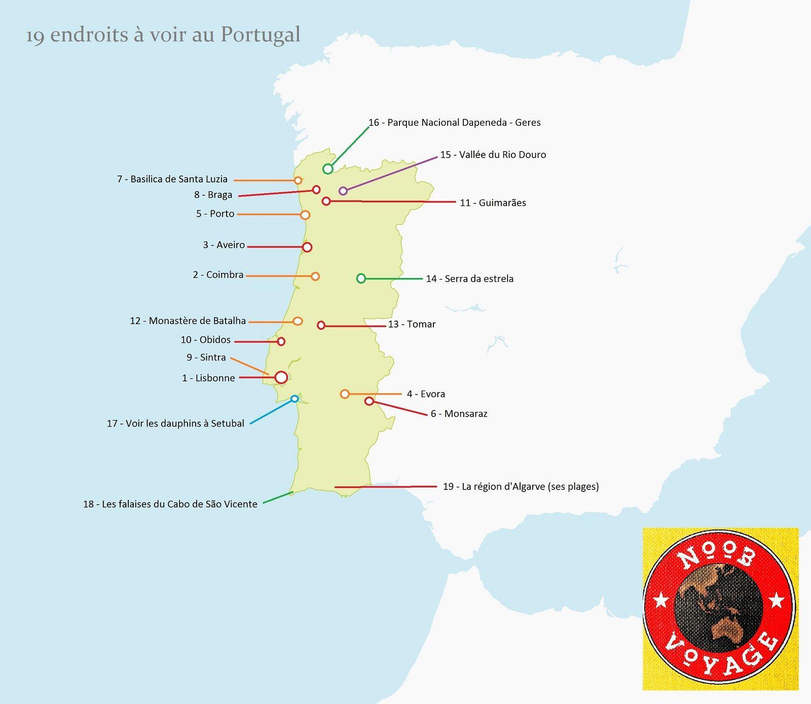 Carte Du Portugal Detaillee A Imprimer Les Endroits A Voir