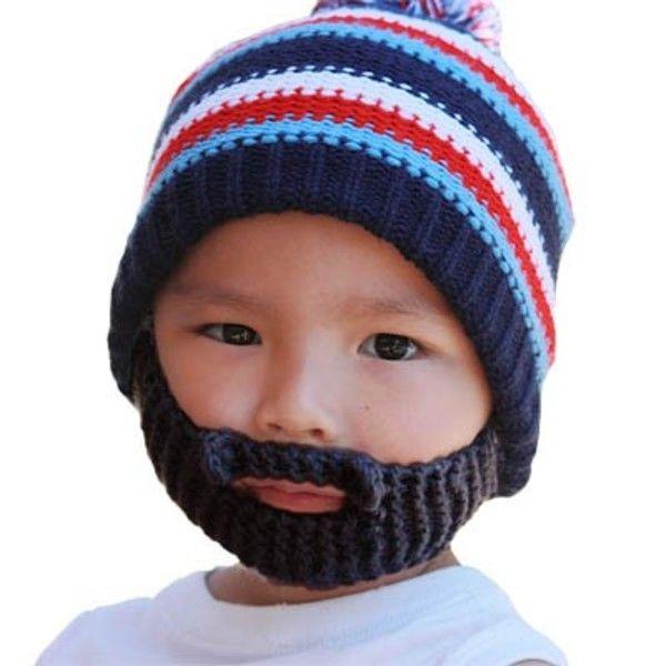 Bearded Kid Stubble - Gromm Head (Black). $29.00 | Quirky Fashion ...