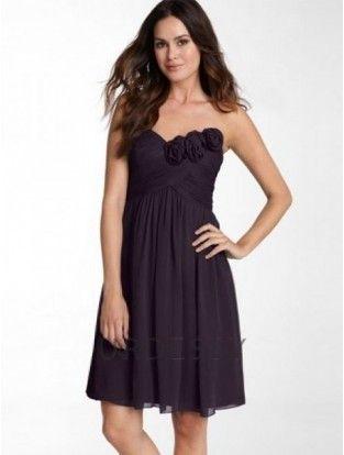 Romantic A-Line Sleeveless Sweetheart Grape Bridesmaids Dresses Sarah Roemer