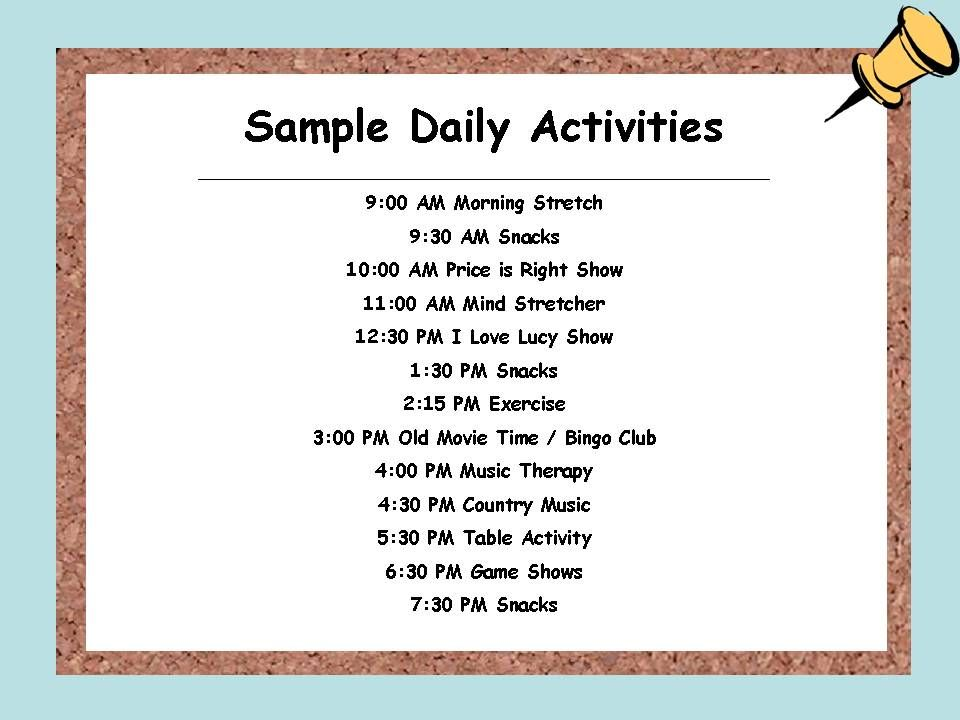 Daily Schedule For Alzheimer S Patient Google Search Dementia