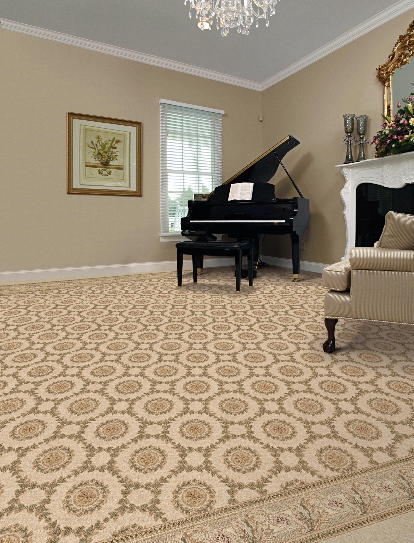 Circular Pattern Living Room Carpet By Kane