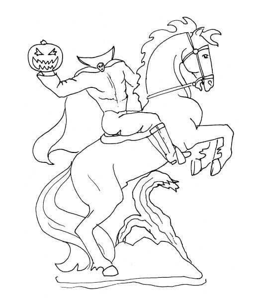 Headless Horseman Coloring Pages Ghost Of Halloween Coloring Halloween Coloring Coloring Pages Horse Coloring Pages