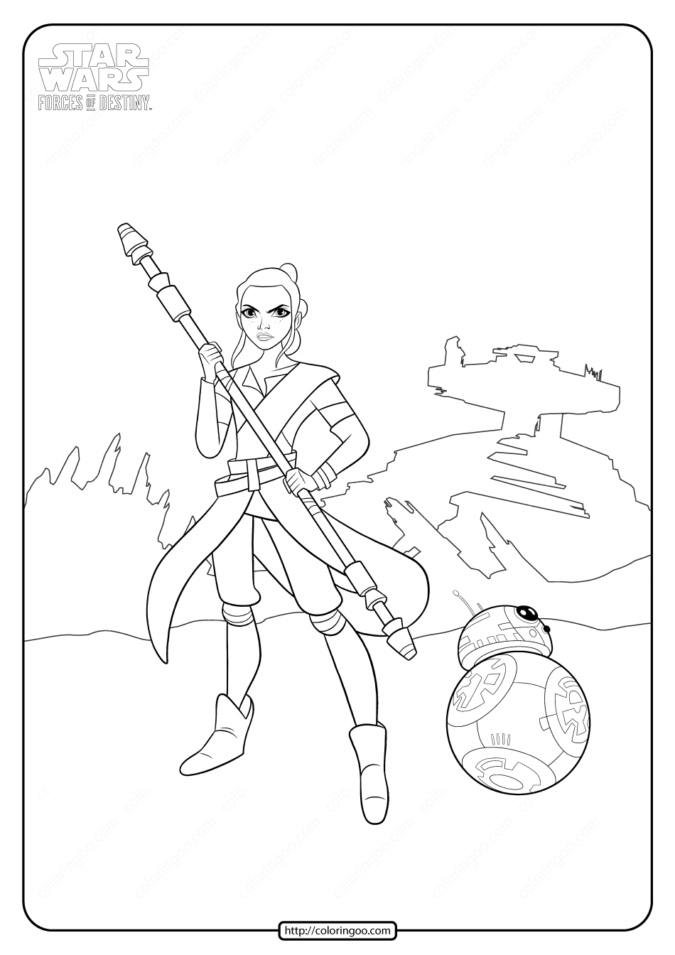 Star Wars Forces Of Destiny Coloring Page High Quality Free Printable Coloring Drawing Painting Pag In 2021 Star Wars Coloring Book Coloring Pages Star Wars Cartoon