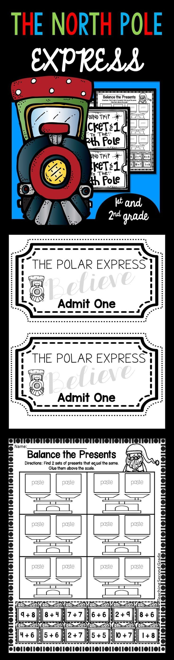 Polar Express Worksheets For 1st And 2nd Grade Polar Express Polar Express Activities Elementary Language Arts Activities