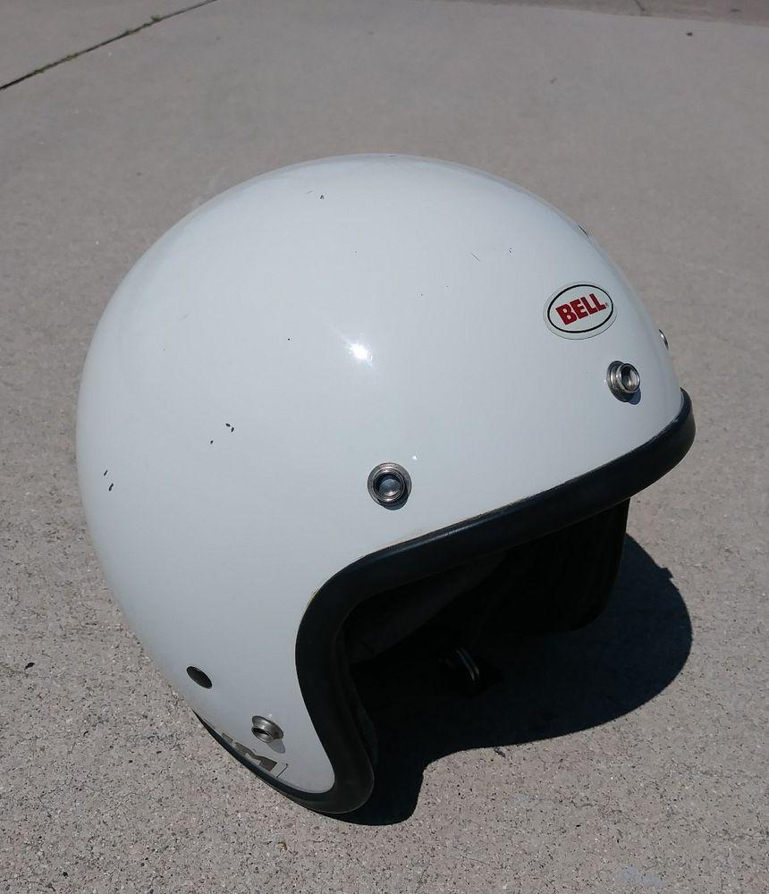Bell Magnum Motorcycle Helmet Ltd White Vintage Usa Norwalk Vintage Usa White Vintage Motorcycle Helmets