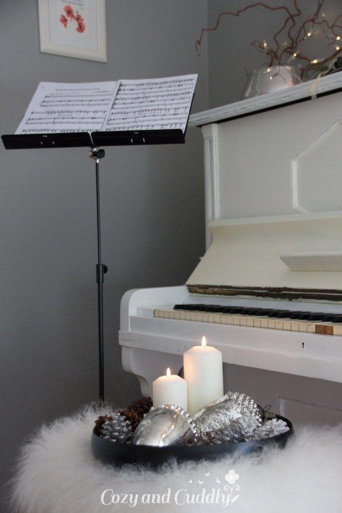 Bauernsilber Weihnachtsdeko.Weihnachtsdeko Mit Bauernsilber Und Ein Klavier Werbung