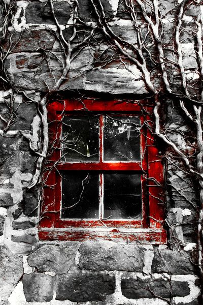 Barn window art print by christopher watson