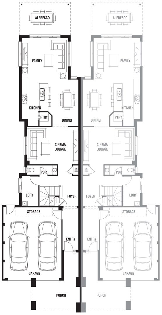 Dual Occupancy House Plans Google Search House Plans House Design Dual Occupancy