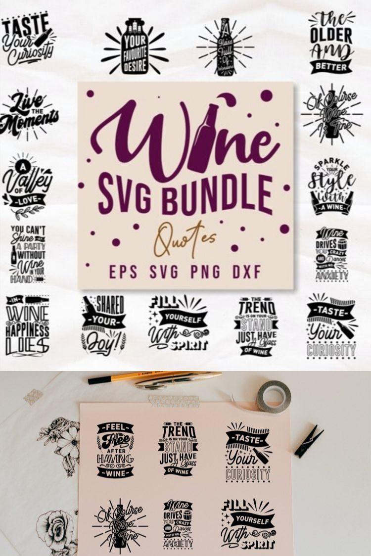 Download Wine Svg Quotes Bundle Typography Lettering Craft 1131122 Hand Lettered Design Bundles In 2021 Wine Svg Svg Quotes Lettering