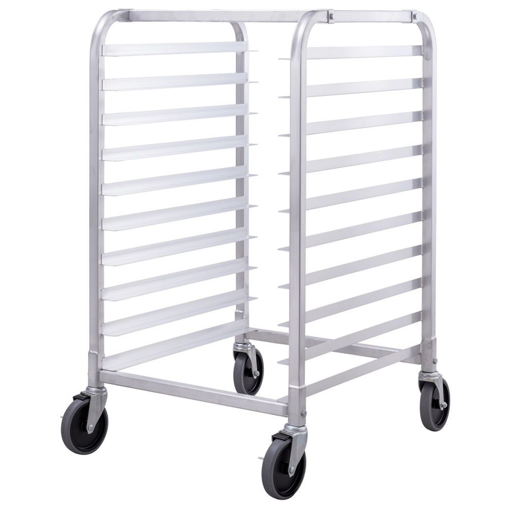 Details About 10 Sheet Aluminum Bakery Rack Rolling Commercial
