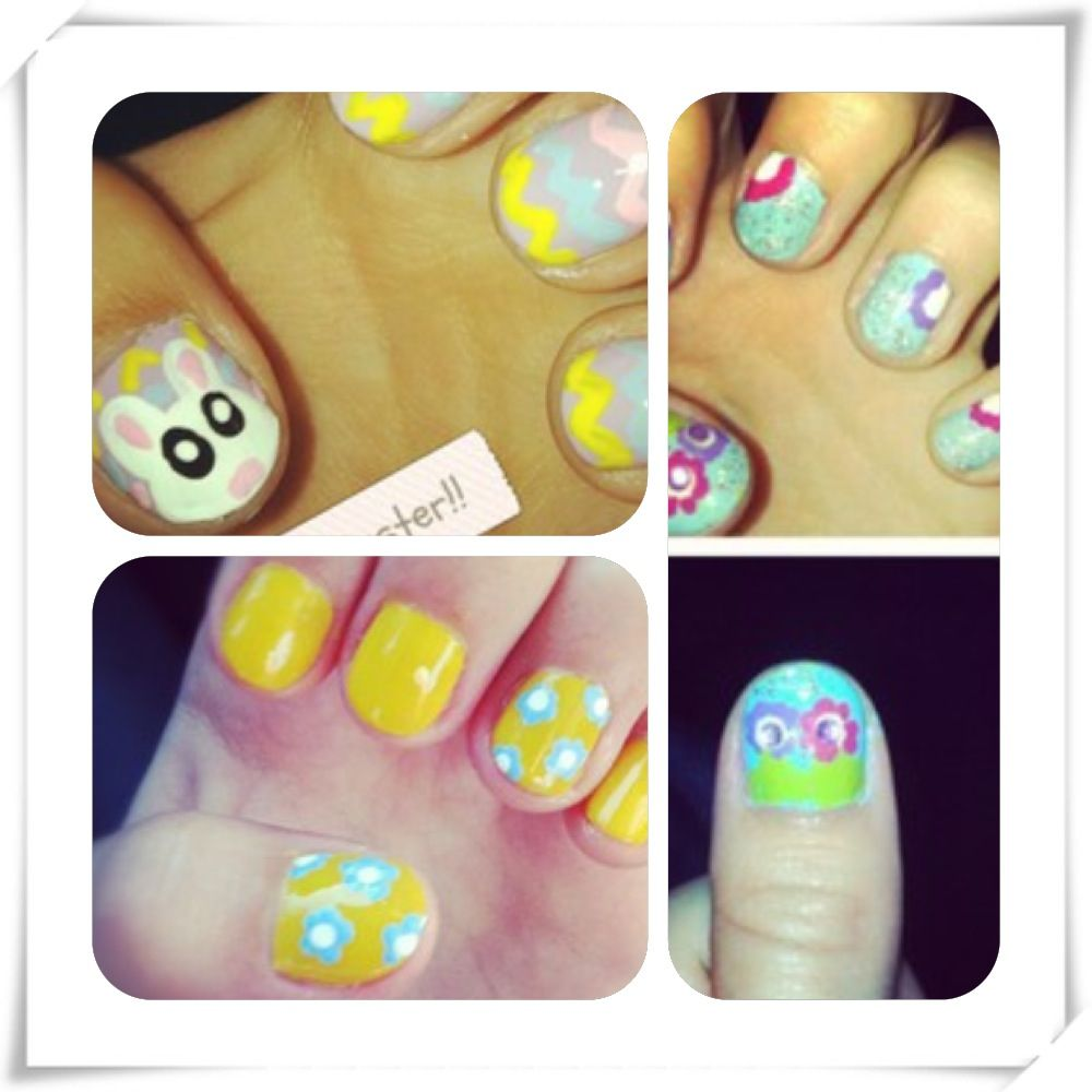 Spring nail art by G Hannelius | G | Pinterest | Spring nails