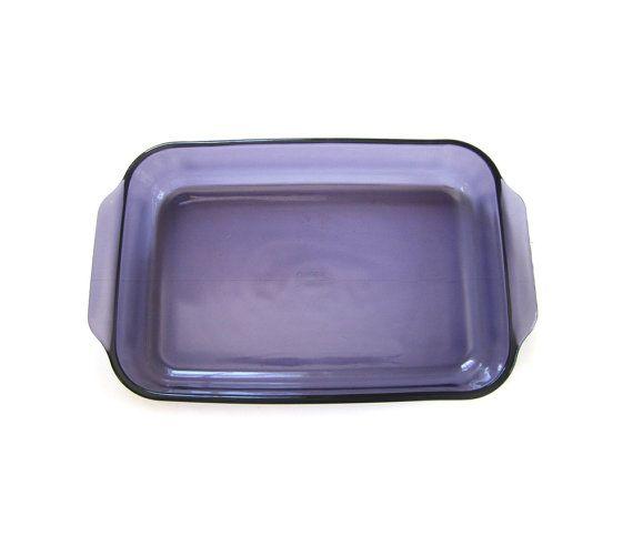 Vintage Pyrex 3 Qt Amethyst Purple Glass 9x13 Baking Casserole Dish