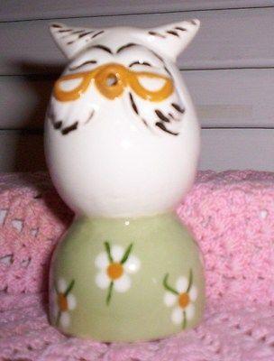 Owl #944 16.1202.2 WISE OWL CHARACTER EGG PIE BIRD