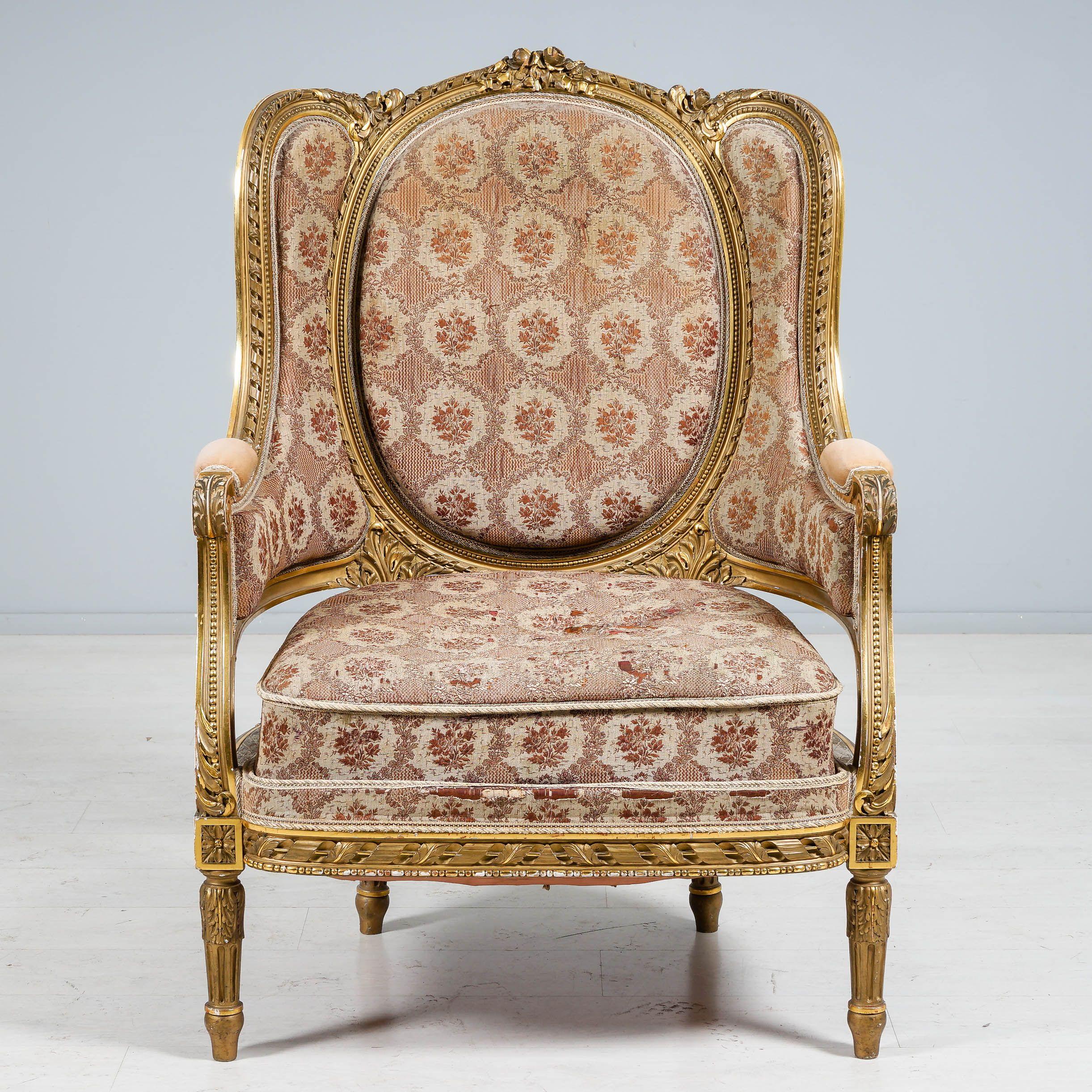 Nojatuoli, Empire, 1800-luvun alku.