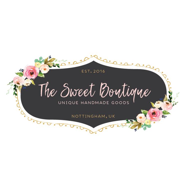 Pretty Floral Chalkboard Premade Logo Design Customized
